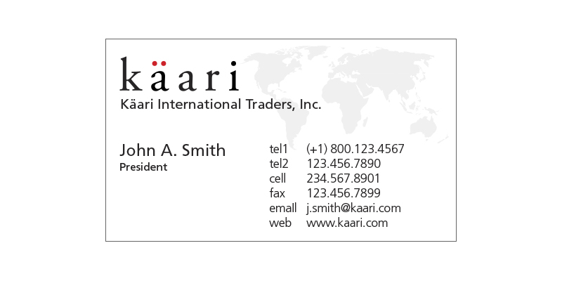 Kaari Businesscard
